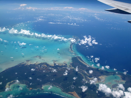 Spectacular Views Out Airplane Windows : Barbados