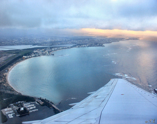 Truly Spectacular Views Out Airplane Windows : puerto rico