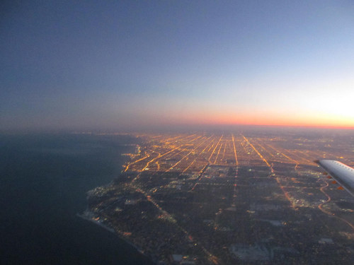 39 Truly Spectacular Views Out Airplane Windows : chicago