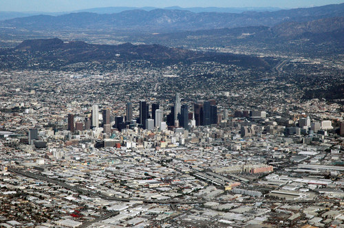Spectacular Views Out Airplane Windows : Los Angeles