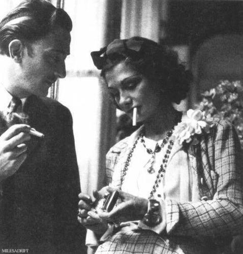 Salvador Dalí and Coco Chanel.