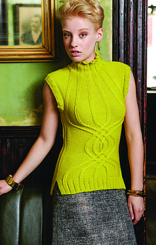 Helix Cabled Vest Vogue Knitting Winter 2013