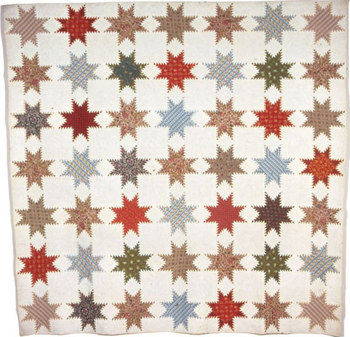 Bedcover (Feather-Edged Star Quilt) | The Art Institute of Chicago