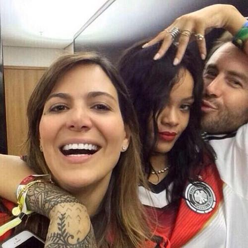 Rihanna backstage at the World Cup