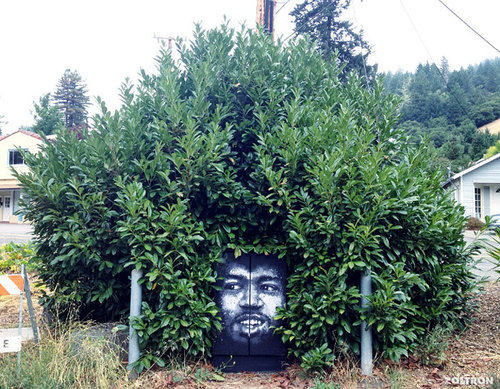 30 Pieces Of Street Art That Cleverly Interact With Nature