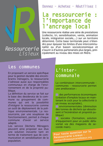 La ressourcerie : l'importance de l'ancrage local
