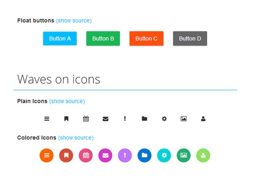 Waves – Click Effect Inspired by Google's Material Design