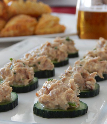 Pepi's kitchen in english: Cucumber Rounds with Tuna #food #recette