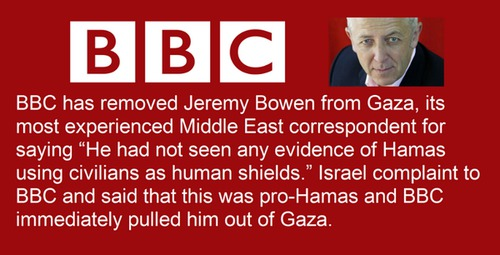 BBC has removed Jeremy Bowen from #gaza