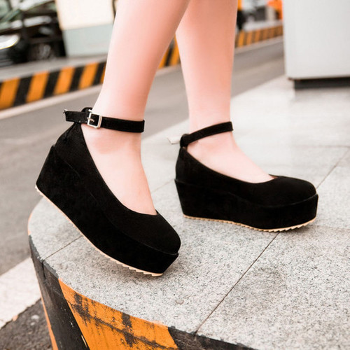 Shoes: black, wedges, wedges, cute,, sandals, cute, velvet, dolly