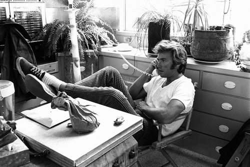 "Clint Eastwood sur le tournage de ""Play Misty For Me"", 1971"