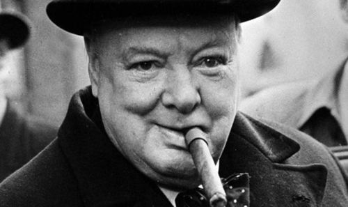 Churchill smoking