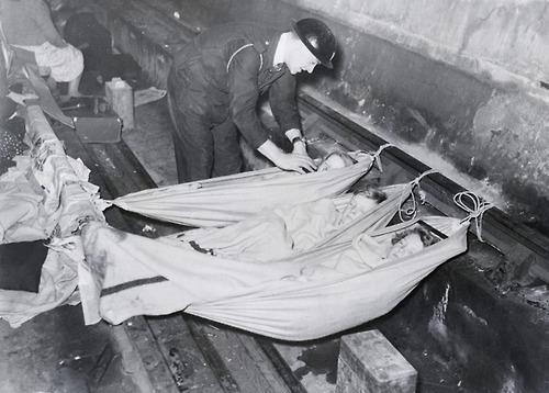 Children sleeping in the British Underground, 1939.