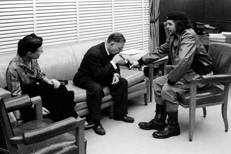 Photos of Jean-Paul Sartre & Simone de Beauvoir Hanging with Che Guevara in Cuba (1960) | Open Cultu
