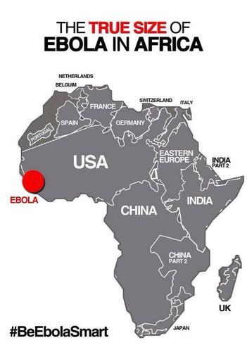 The true size of #Ebola in Africa