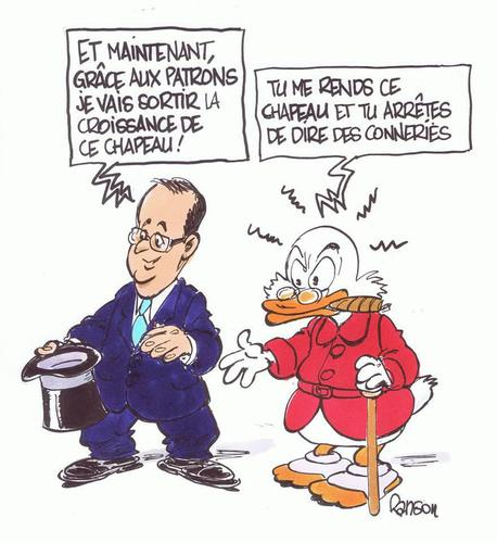 Hollande veut s 'improviser prestidigitateur