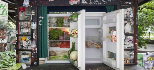 Le fridge « foodsharing »