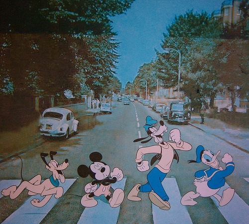 Mickey on Abbey Road :-)