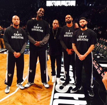 Respect to Jay Z and the Brooklyn Nets for supporting the movement!! #ICantBreathe