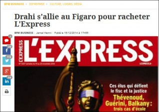 Rachat Express/Expansion : Patrick Drahi (Libération) s'allie au Figaro