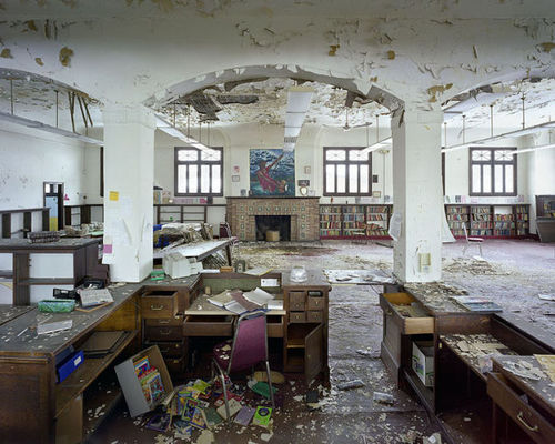 The Grandiose Decay of Abandoned Detroit: Library