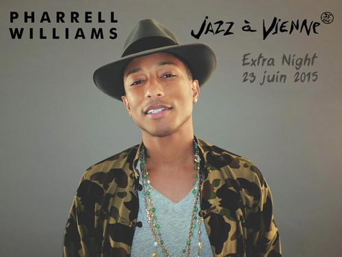 Concert exclusif de Pharrell Williams @ JAZZ à VIENNE  le 23 Juin 2015
