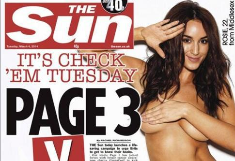 No more topless page 3 girls