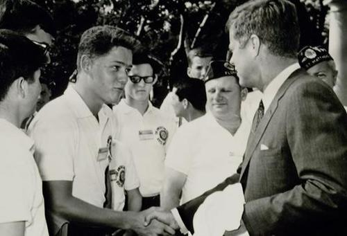A Teenage Bill Clinton Meets With John Kennedy