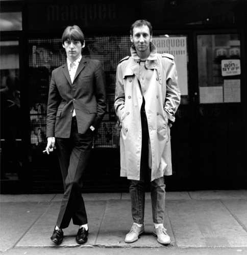 Paul Weller and Pete Townshend in London, 1980 - Photo by Janette Beckman