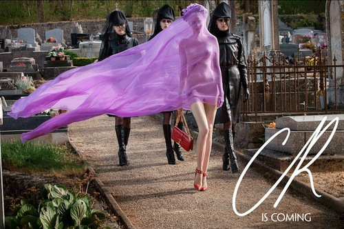 Former French Vogue Editor in Chief Carine Roitfeld unveils first image from her new CR Fashion Book