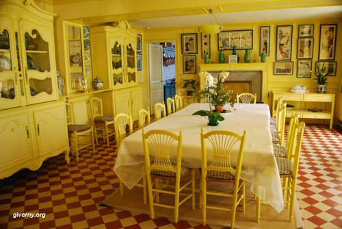 Giverny Claude Monet's Yellow Dinning Room