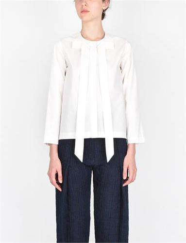 A Detacher Terra Blouse White