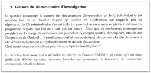 Documentaire sur le Crédit Mutuel : la direction de Canal+ assume la censure par Bolloré