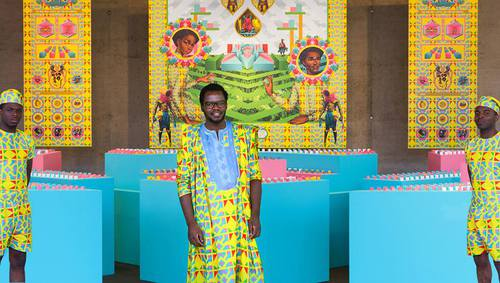 The Afro-Polis City is a food art installation designed by Pierre-Christophe Gam