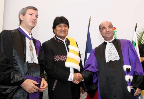 Evo Morales, docteur honoris causa de l'Université de Pau
