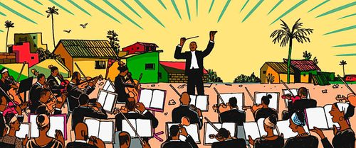 The Orchestra Playing Handel in Kinshasa