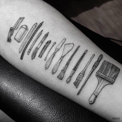 People with Tattoos of Their Working Tools