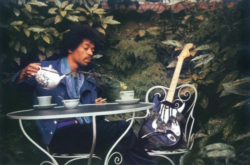 1970 : One of the last photo of Jimi Hendrix, taken the day before he died by his girlfriend Monika