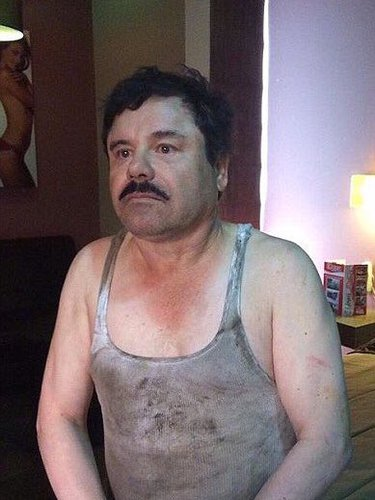 El Chapo was apprehend wearing a tank from Kanye's line.