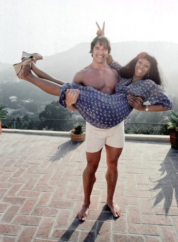 Arnold Schwarzenegger and Donna Summer, Los Angeles, 1977