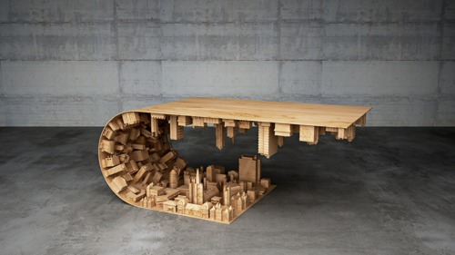 Wave Coffee Table by Mousarris