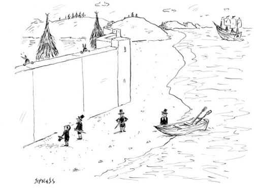 Cartoons - The New Yorker : the wall