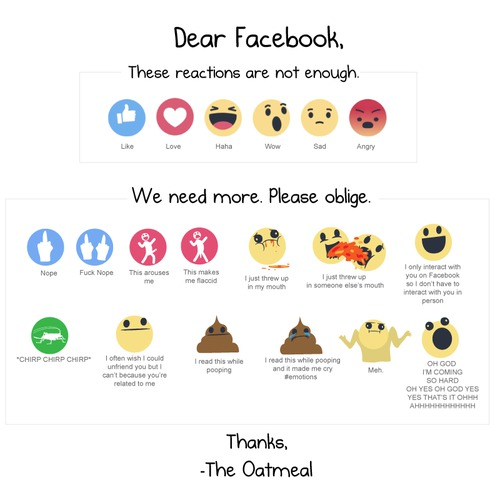 I created some new Facebook reactions