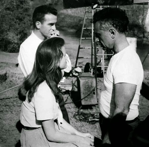 Montgomery Clift, Lee Remick et Elia Kazan
