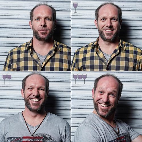 Amazing photos capture how faces change after 1, 2 and 3 glasses of wine