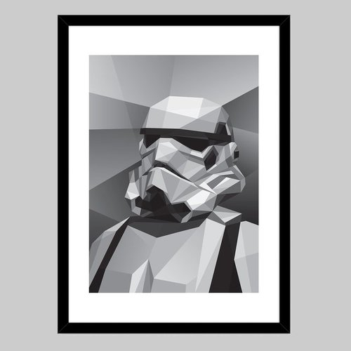Fancy - Storm Trooper Fine Art Print by Filip Peraić