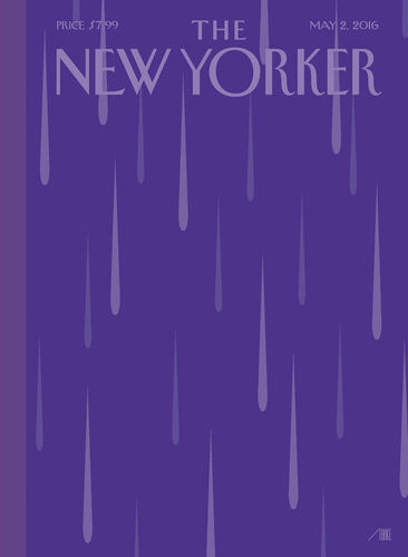 "New yorker Cover Story: ""Purple Rain,"" by Bob Staake"