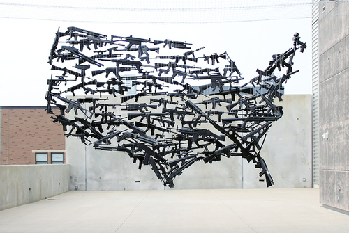 Juxtapoz Magazine - Suspended USA Made From 130 Toy Guns