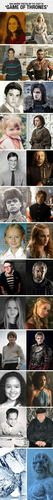 Childhood photos of Game of Thrones's Cast
