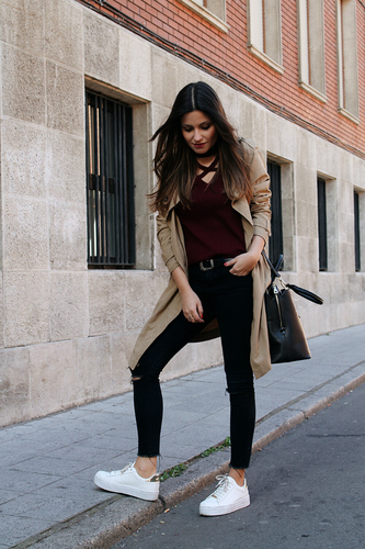Blog de Moda: comfy outfit with trench and sneakers